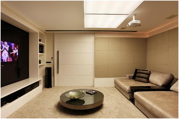 Decora o de sala de tv decora o ideal inspire se for Salas modernas pequenas para apartamentos