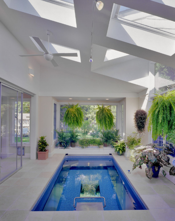 Que tal ter uma piscina dentro de casa decora o ideal for Casas con piscina dentro